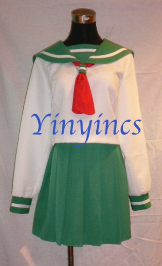 Japanese School Uniform Costume Inuyasha Kagome Cosplay