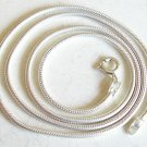 Silver snake necklace chain thick 2mm, 18 inch new 925