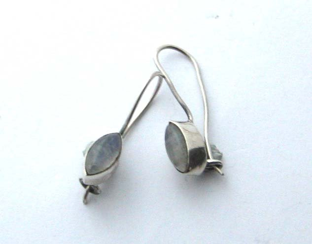 Sterling silver moonstone earrings marquise