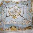 "1960s Hermes Blue Scarf ""Cheins et Valets"" Charles Hallo Hounds & Hunter"
