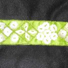Green Satin Belt w/MOTHER OF PEARL accents - BEAUTIFUL!