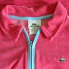 LaCoste Bright Pink Velour Shirt