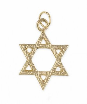 24k Gold plated Star of David Pendant or Charm
