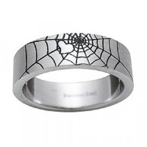 Spider Web design Stainless Steel Unisex Ring