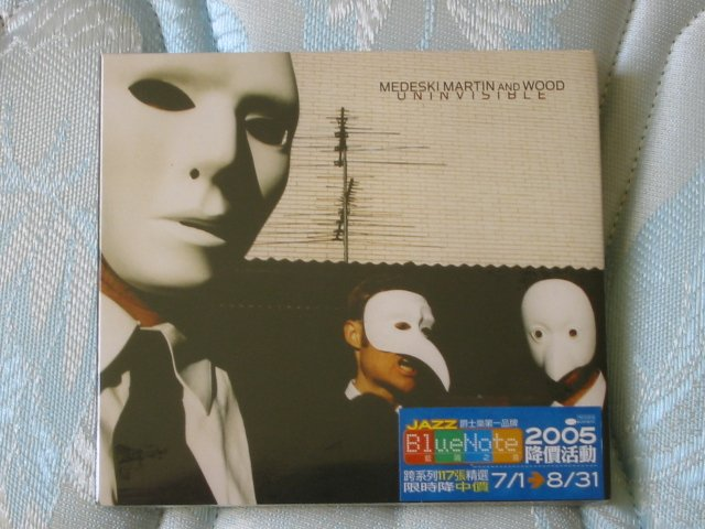 MEDESKI MARTIN AND WOOD - UNINVISIBLE. - Brand new and sealed CD.