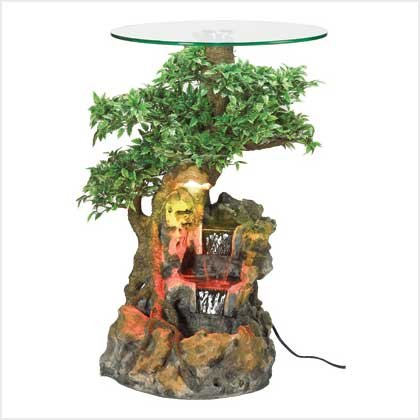 #   38840  Bonsai Forest Accent Table Fountain