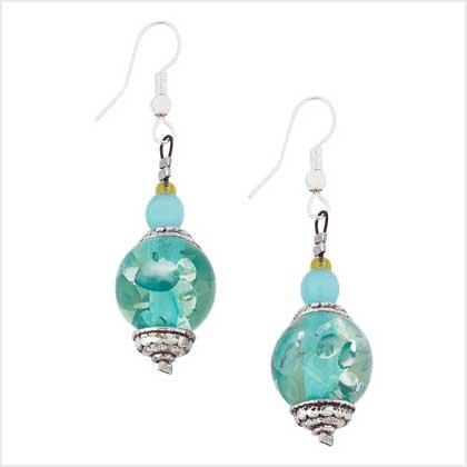 #  39119  Ice-blue crystalline Earrings