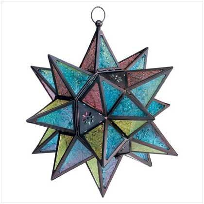 #34690 Star-shaped candle lantern