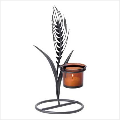 #38948 Wheat-ear silhouette candle holder