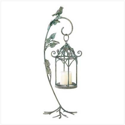 #39070 Wrought iron birdcage-style candle cradle