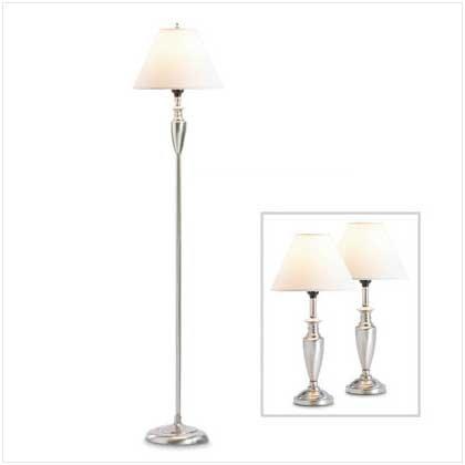 #    36998    Sleek and elegant lamp trio