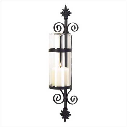 #38370 A palatial touch of Tuscan elegance matte black candle holder