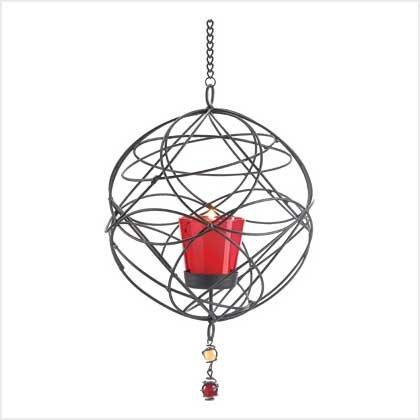 #38953 Web-work hanging candle holder