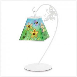 #38529 Bees and daisys hanging votive lantern