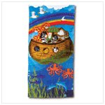 #37857 Noah's Ark Design Beach Towel