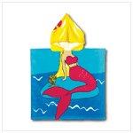 #37751 Mermaid Hooded Beach Towel