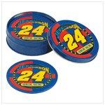 # 38356 Jeff Gordon Tin Coaster Set