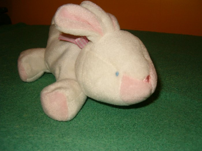 Soft Dreams White Pink Bunny Plush Lovey Toy