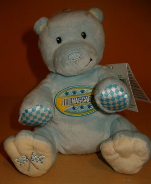 Nascar Kids Preferred Blue Bear Plush Animal Lovey