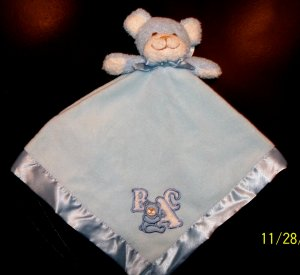 Blankets and Beyond Blue Bear Nunu Security Blanket Lovey NEW CUTE