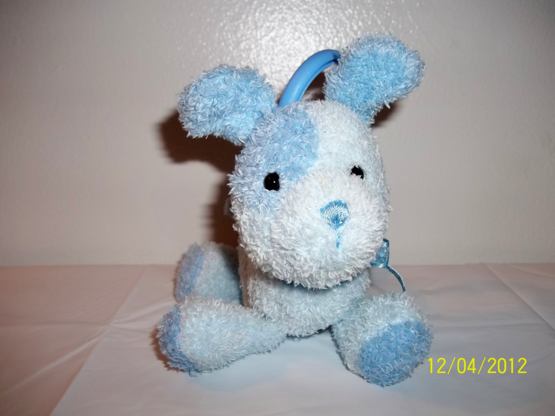 Carter's Blue Puppy Dog Crib Pull Toy Lovey Plush