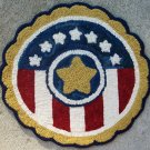 Hand hooked all wool Patriotic Rug