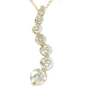 14k Yellow Gold 2.00Ct Journey Diamond Pendant