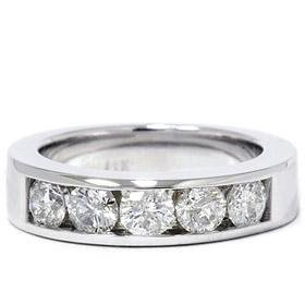 14k White Gold 1.25ct Diamond Wedding Ring