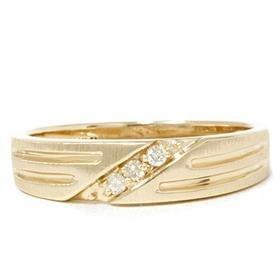 14k Yellow Gold .12CT Men's Diamond Ring