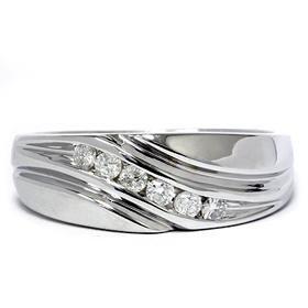 Men's 14k White Gold .25ct Diamond Ring