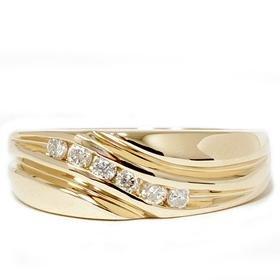Men's 14k Yellow Gold .25ct Diamond Ring