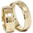Ring Information 14k Gold Matching His Hers Two Tone Wedding Ring Set