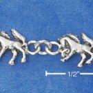 STERLING SILVER MINI HORSE LINK BRACELET  BR-361