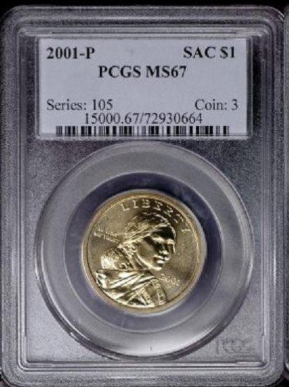 2001-P Sacagawea Golden Dollar PCGS MS67 - au6