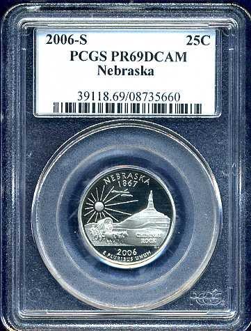 2006-S Clad Nebraska Quarter PCGS PR69DCAM