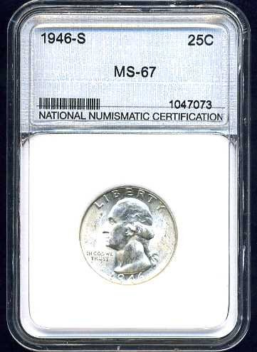 1946-S Washington Quarter NNC MS67 Super Gem