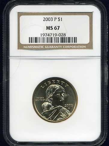 2003-P Sacagawea Golden Dollar NGC MS67