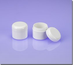 (100) 1/5 oz White Cosmetic Jars and Caps