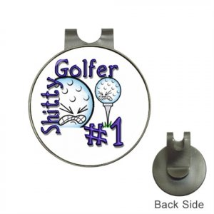 FUNNY Humorous Golf Ball Marker Hat Clip and  Ball Marker NEW 14962209