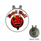 DEVIL Ball Marker Hat Clip and  Golf Ball Marker NEW
