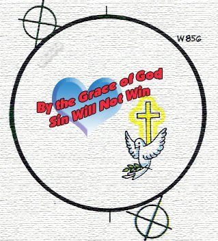 By the Grace of God Sin Will Not Win Button