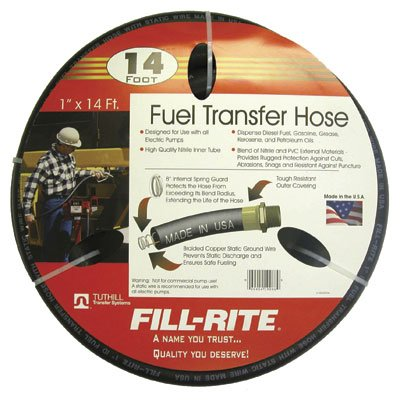 "FRH10014 Fill-Rite 1""x14 Ft  Fuel Tank Transfer Pump Hose"