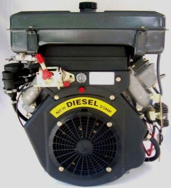 25 HP V-Twin Diesel Engine Electric Start