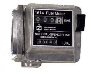 "1514-1 National Spencer 1"" Npt 4-20 GPM Nutating Disc Gas/Diesel Fuel Meter"