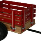 """MC1 SpeedWay 14"""" x 20"""" Mini Trailer with Rack Sides Amish Made Wagon"""