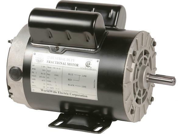 CM53656 WorldWide Electric Air Compressor Motor 5 Hp 208/230v AC