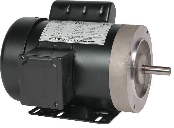 T2-18-56CB-OL WorldWide Electric Motor 2 Hp 1725 Rpm 115/230v AC
