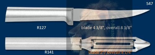 S47 Super-Sized Paring Knife & Vegtable Peeler Holiday Gift Set (Rada Cutlery)