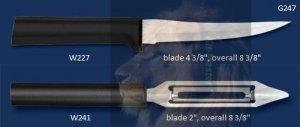 G247 Super-Sized Paring Knife & Vegtable Peeler Holiday Gift Set (Rada Cutlery)