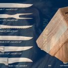S42 Creative Cuts Knives w/Oak Block Holiday Gift Set (Rada Cutlery)